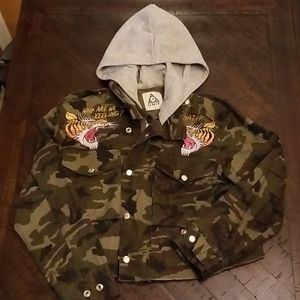 unif camo cropped jacket